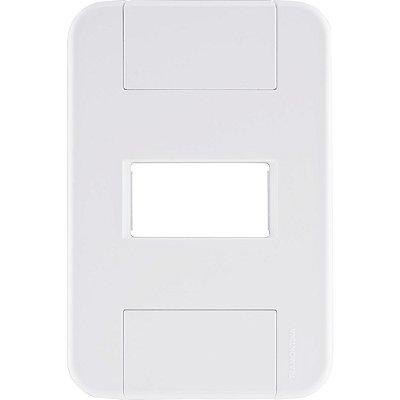 Placa 1 posto horizontal 4x2  tablet branca