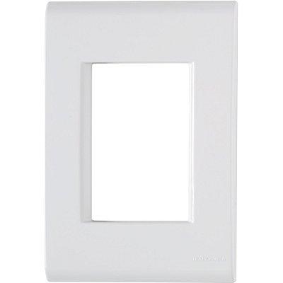 Placa 3 postos 4x2  liz branca