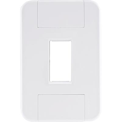 Placa 1 posto vertical 4x2  tablet branca
