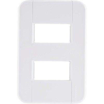 Placa 2 postos afastados 4x2  tablet branca