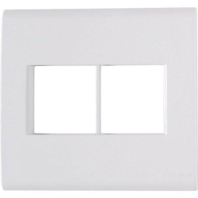 Placa 4 postos 4x4  liz branca