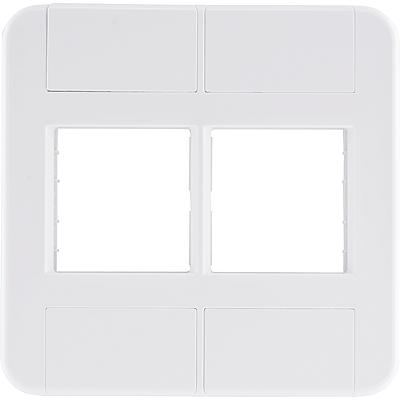 Placa 4 postos 4x4  tablet branca