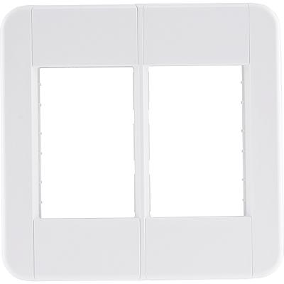 Placa 6 postos 4x4  tablet branca