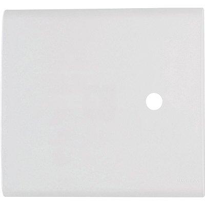 Placa com 1 furo 4x4 9,5 mm  liz branca
