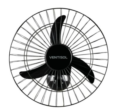 Ventilador de Parede Comercial 50cm 2000w preto bivolt -Ventisol