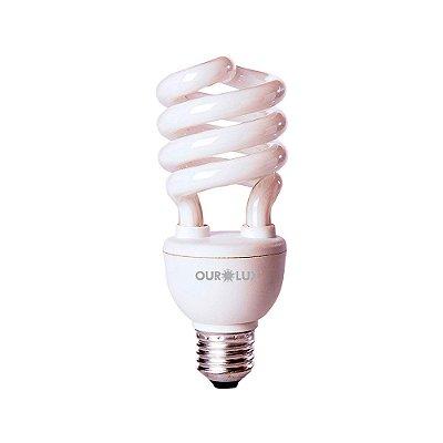 Lâmpada Eletrônica Espiral 20w 220v Luz Amarela 2700k - Ourolux