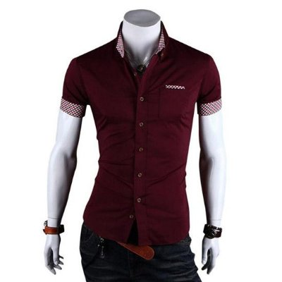 019c6796d9 Camisa Social Masculina Slim Fit Camiseta Blusas Manga Curta