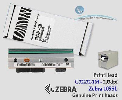 Cabeça de impressão Zebra 105SL|203DPI |G32432-1M