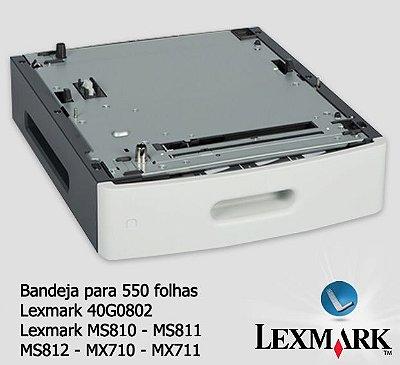 Lexmark Bandeja Opcional 550fls - MS81X/MX71X - 40G0802