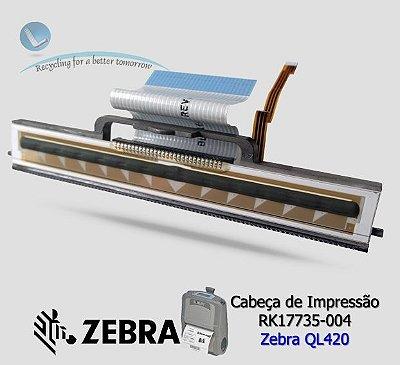 Cabeça de Impressão Zebra QL420 |RK17735-004
