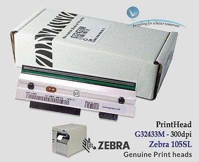 Cabeça de impressão Zebra 105SL|300DPI|G32433M