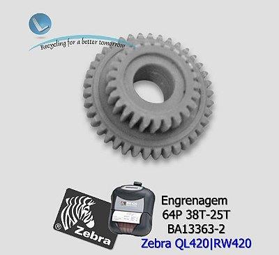 Engrenagem Zebra RW420 (64P 38T-25T) / QL420| BA13363-2
