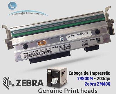 Cabeça de Impressão Zebra ZM400 |203DPi|79800M