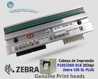 Cabeça de impressão Zebra 105SL Plus|203DPI| P1053360-018