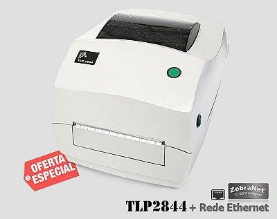 Impressora de etiquetas Zebra TLP2844 + Rede Ethernet