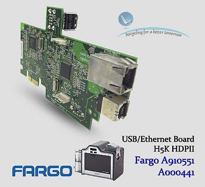 Placa USB/Ethernet Fargo HDP5000/HDPii|A910551