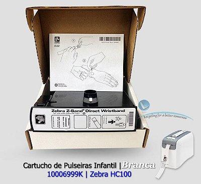Zebra Cartucho de Pulseiras Infantil Branca| HC100|10006999K|Unitário|