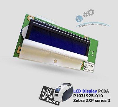 Placa painel LCD Zebra ZXP3 | P1031925-010