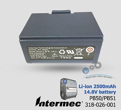 Bateria Recarregável Intermec PB50/PB51|318-026-001