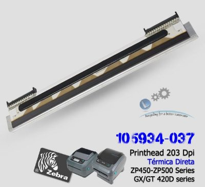 Cabeça de Impressão Zebra GX420D/ZP450/ZP500 series|105934-037