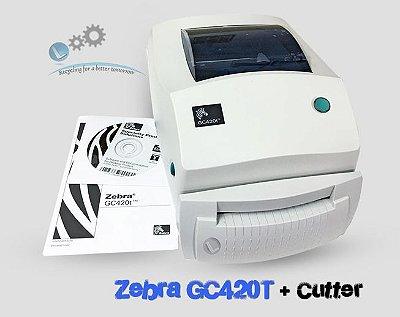 Impressora de etiquetas Zebra GC420T + Cutter