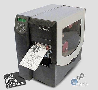 Impressora de etiquetas Zebra Z4M Plus|com Peel off e Rebobinador full