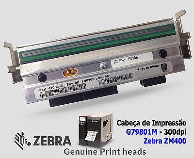 Cabeça de Impressão Zebra ZM400 |300DPi|79801M