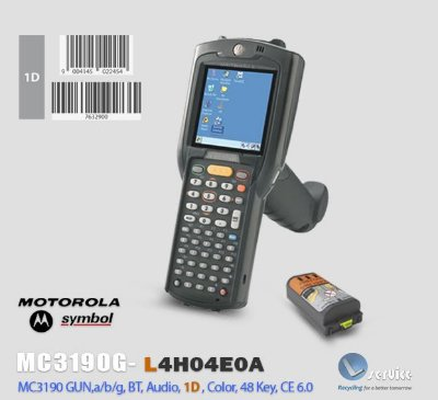 Coletor de Dados Motorola-Symbol MC3190 Gun,1D Laser