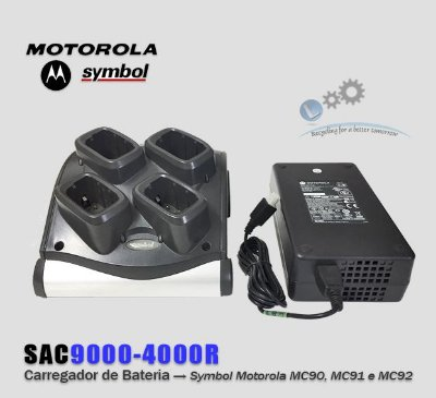 Carregador de Bateria 4 Slots Motorola MC90/MC91/MC92 | SAC9000-4000
