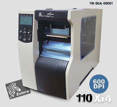 Impressora Industrial Zebra 110Xi4 →600dpi | L104mm (↔)