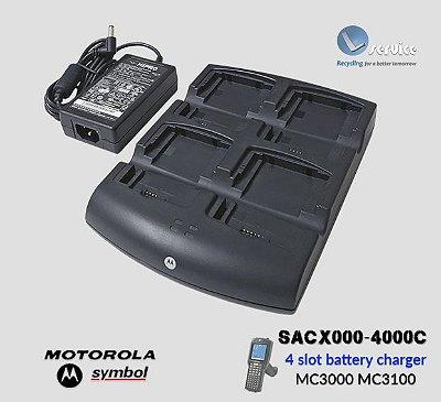 Carregador de Bateria 4 Slots Symbol-Motorola MC30x0/MC3190
