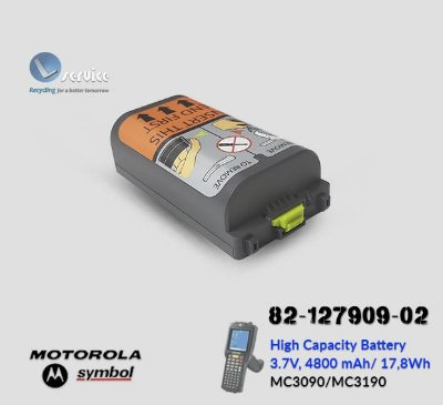 Bateria de alta capacidade Motorola MC3190