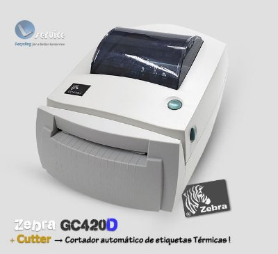 Impressora de etiquetas Zebra GC420D+ Cutter