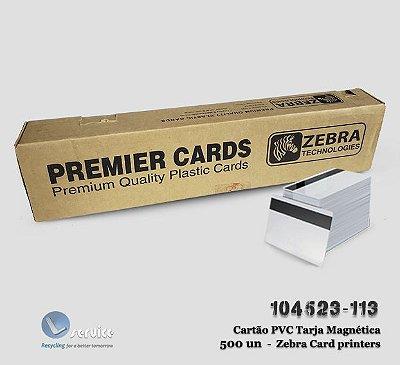 Cartão PVC Branco Zebra com Tarja Magnética - 500 Cartões