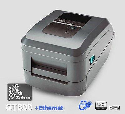 Impressora Zebra GT800 + Rede Ethernet