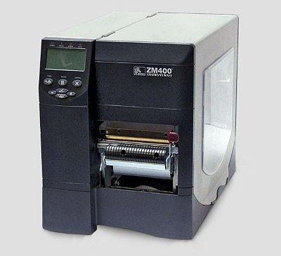 Impressora Zebra ZM400 + Peel off e Rebobinador de Liner