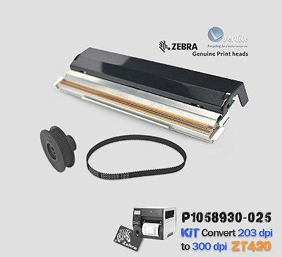 Kit de Conversão Zebra ZT420 de 203dpi → 300dpi |P1058930-025