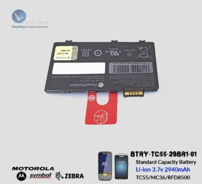 Bateria Zebra MC36/TC55 (Li-ion 3.7V/ 2940 mAh)