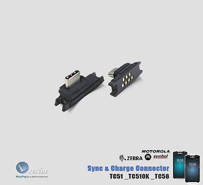 Sync+conector de carga Zebra TC51/TC510K/TC56