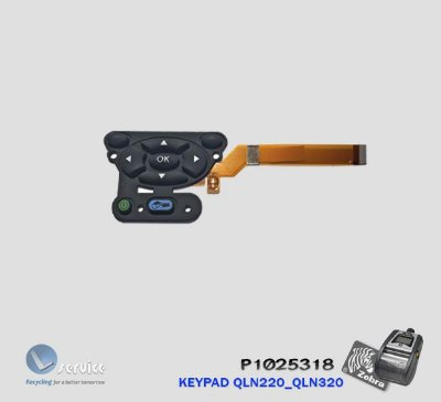 Teclado do Painel (Keypad) Zebra QLn220_QLn320