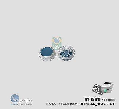 Botão do avanço de papel Zebra TLP2844/GC420T