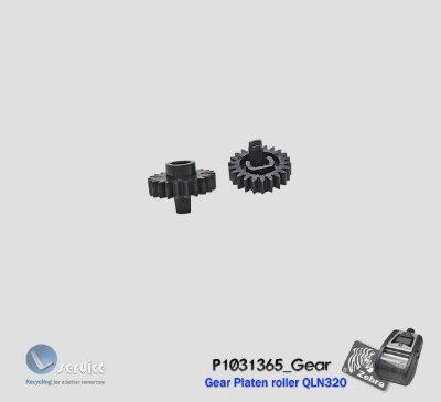 Engrenagem Platen roller Zebra QLN320