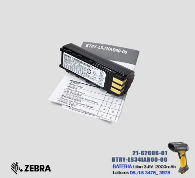 Bateria Symbol Leitores DS3478_LS3478_DS3578_LS3578