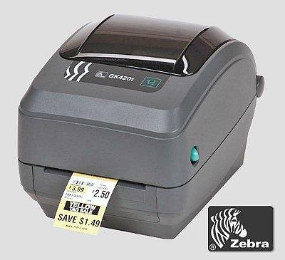 Impressora de etiquetas Zebra GK420T| USB_Serial_Paralela