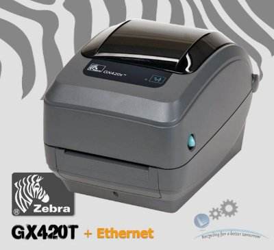 Impressora Zebra GX420T+ Rede ethernet