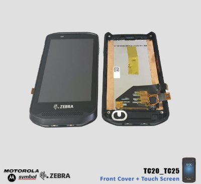 Front Cover+Touch+LCD Zebra TC20/TC25