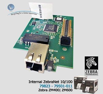 Placa de Rede ZebraNet™ ZM400/600|Xi4 series|79823|79501-011