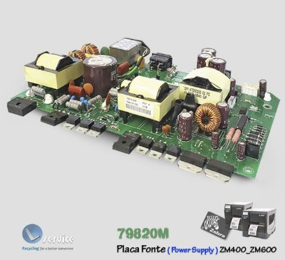 Placa Fonte Zebra ZM400-ZM600 |79820M
