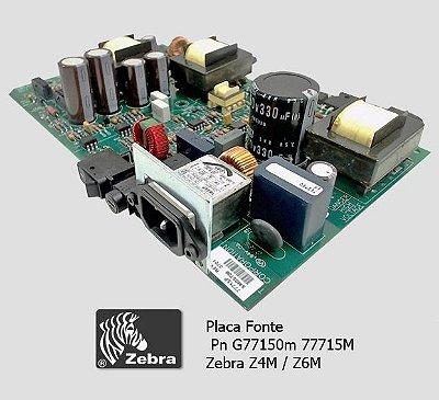 Placa Fonte Zebra Z4M|Z4Mplus|Z6M|77715M