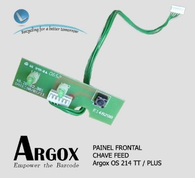 Painel Frontal Chave feed Argox OS 214TT e PLUS